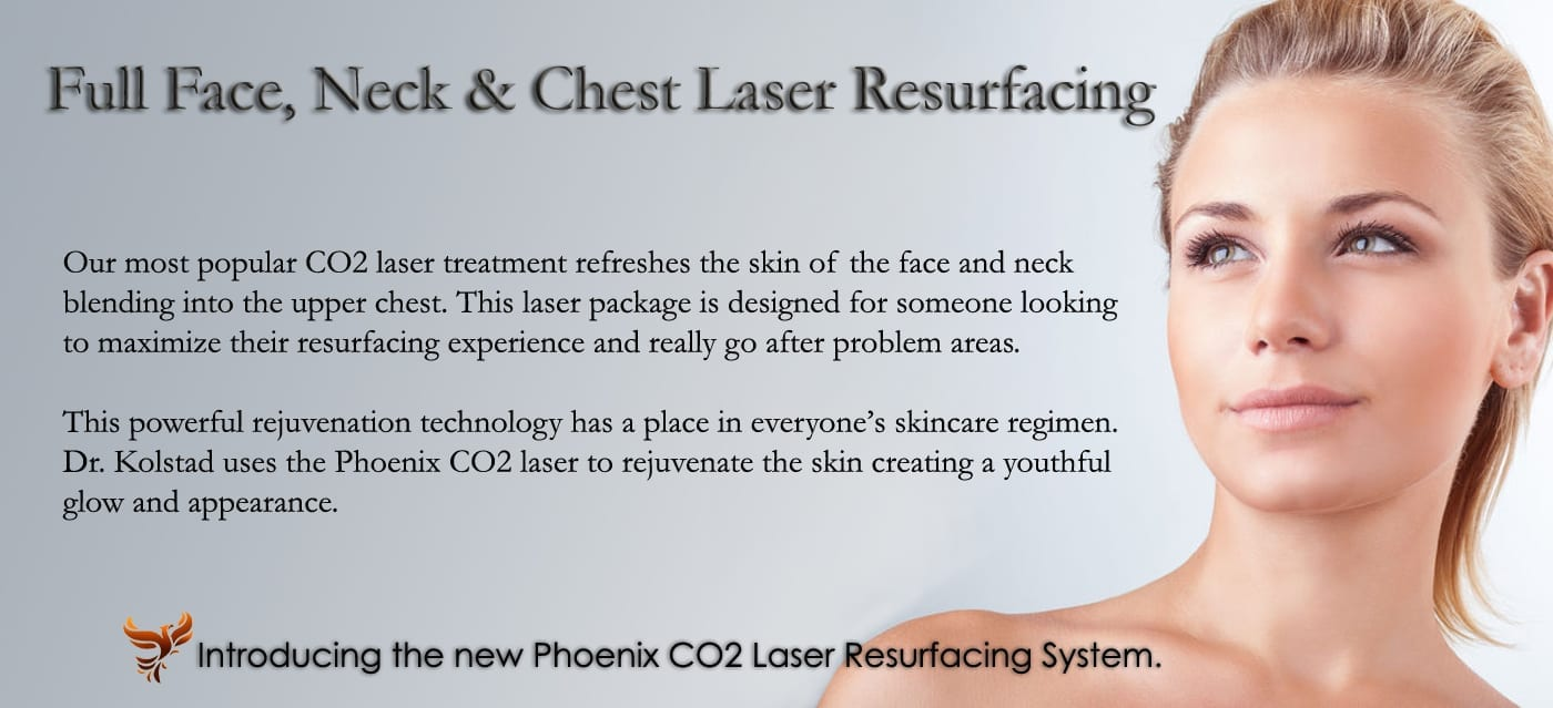 laser neck, chest, and face resurfacing